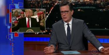 Colbert Tackles Trump's 'Emergy' Caravan Tweets