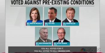 Rachel Calls Out The Lying Liars For Their 'Support' Of Coverage For Pre-Existing Conditions