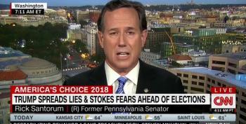 Rick Santorum Calls Trump's Lying His 'Schtick'