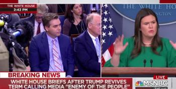 CNN's Acosta Pushes Sarah Sanders To Name 'Enemies Of The People'