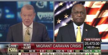 FBN's Stu Varney And Herman Cain Celebrate Trump Telling Troops To Shoot Migrants