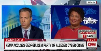 Abrams Calls Kemp Accusation Of Cyber Crime By Democrats Desperate Attempt To Distract
