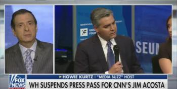 Howard Kurtz Pans White House For Overreacting To CNN's Jim Acosta
