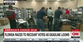 As FL Recount Races Toward Deadline, Vote Counting Machines Overheat