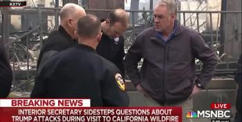 Ryan Zinke Rubs Salt In Wounds By Visiting Sites Of California Wildfires