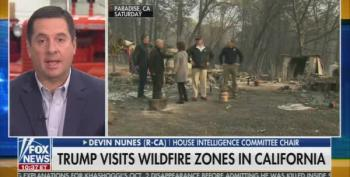 Rep. Devin Nunes Blames 'The Left' For California Wildfires
