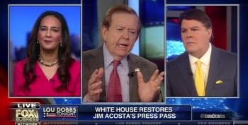 Lou Dobbs Complains Bitterly About Jim Acosta Getting His Press Pass Back