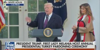 Trump Mocks 9th Circuit Judges And House Dems In Bizarre Turkey Pardoning Ceremony