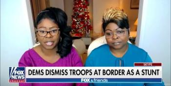 Fox Grifters 'Diamond & Silk' Claim Trump Is Protecting The Border From 'Invasion'