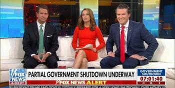 Fox & Friends Parrot Dear Leader And Blame Trump Shutdown On Democrats