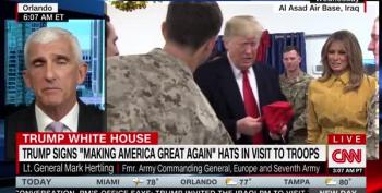 Commander Bone Spurs Turns Visit To Troops Into Campaign Rally