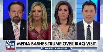 Hannity Panel Whines About Media's Treatment Of Trump's Iraq Trip