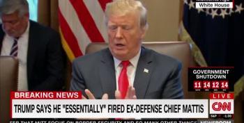 Trump's Rambling Press Conference: I'd Make A Good General