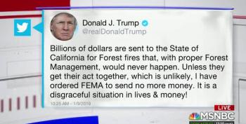 Angry Trump Takes It Out On California Wildfire Victims