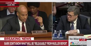 Sen. Cory Booker Won't Let Barr Get Away With Racist Crime Claims