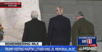 Trump Spends Two Whole Minutes At MLK Memorial