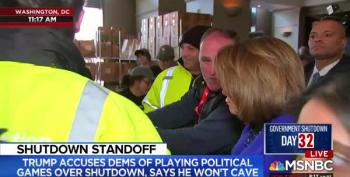 Speaker Pelosi Visits José Andres' Relief Station For Furloughed Federal Workers