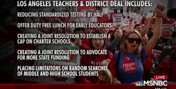 It's Back To School As Los Angeles Teachers Announce Strike Settlement