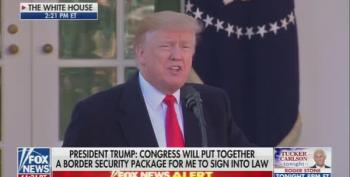 Government Will Reopen: Trump Caves, Admits 'We Don't Need 2,000 Miles Of Concrete Walls