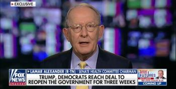 Sen. Lamar Alexander: We Should Never Close Government As A Bargaining Chip In Budget Negotiation