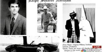 VA Gov. Northam's Yearbook Page Features Photo Of Men In Blackface, KKK Hood
