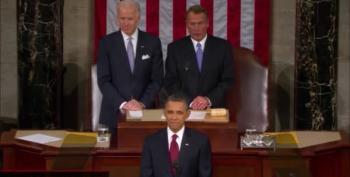 Speaker John Boehner Introduces President Barack Obama Before SOTU Addresses In 2011-12