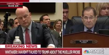 Snotty Matthew Whitaker Tells Judiciary Chairman 'Your Five Minutes Are Up'
