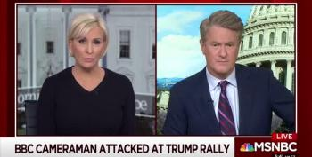 Trump Rally Goer Attacks BBC Cameraman