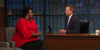 Stacey Abrams Tells Seth Meyers: Resist Trump But Don't Take Him Seriously