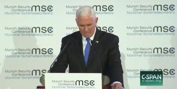 In Munich, Pence Relays Greetings From Trump. *CRICKETS*