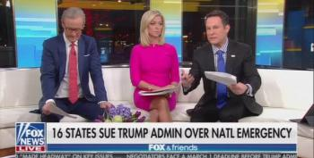 Fox And Friends Hosts Clash On Trump Saying 'He Didn't Need To Call' A National Emergency To Build The Wall