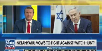 Fox News' Hegseth: Bibi Netanyahu's 'Deep State Witch Hunt' Much Worse In Israel