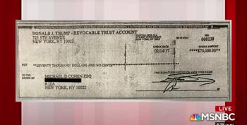 Michael Cohen's Lawyer Shows Ari Melber Another Check From Trump