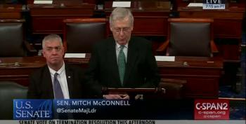 Mitch McConnell Breaks Down As Staffer Retires