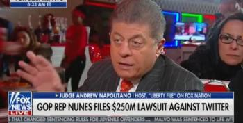 Judge Napolitano Bashes Devin Nunes' Lawsuit V. Twitter: 'They Are Not The Government'