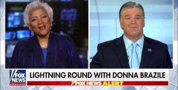 Hannity Ignores His Past, Makes Cute With Donna Brazile