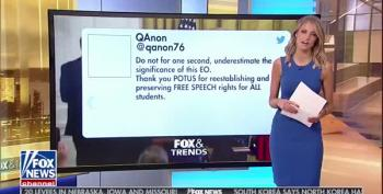 Fox News Reporter Quotes QAnon Tweet On-Air