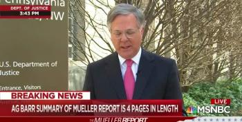 MSNBC's Pete Williams Reads William Barr' Brief Summary Of Mueller Report