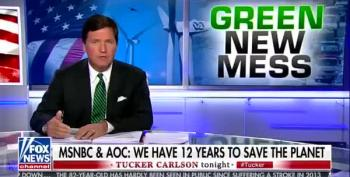 Left Out Of Cool Kids Club, Tucker Carlson Lashes Out At AOC And Chris Hayes