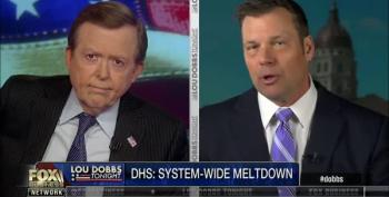 Lou Dobbs Loves Kris Kobach's Plan Of Putting Migrants Into Process Camps