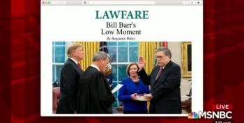 Conservatives Attack Bill Barr's Obsequious Bowing To Trump