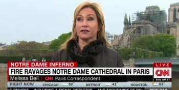 CNN Gets A Look Inside Notre Dame's Wreckage