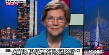 Elizabeth Warren Goes There, Calls For Impeachment