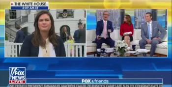 Fox & Friends Hosts Another Sarah Sanders Lie Fest On April Ryan