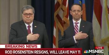 BREAKING: Rod Rosenstein Resigns Effective May 11th