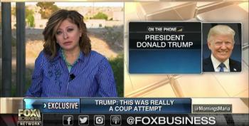 Trump Rambles On Endlessly While Fox's Bartiromo Tries To Get Him Off The Phone