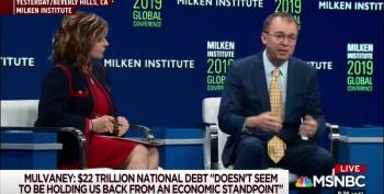Former Deficit Hawk Mulvaney Says Soaring U.S. Debt Isn't 'holding Us Back'