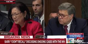 Sen. Mazie Hirono Lands Every Punch, Destroying Bill Barr In Her Questioning