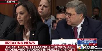 Sen. Kamala Harris Annihilated Weasel Bill Barr In Today's Hearing