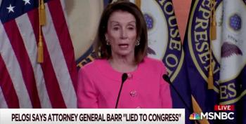 Nancy Pelosi Doesn't Hedge On Barr: 'He Lied To Congress'